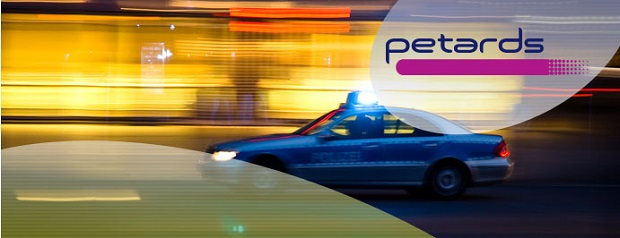 petards german police car