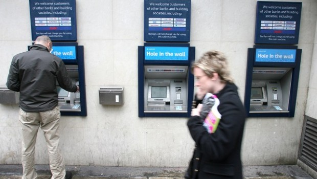 banks banking atms cash barclays