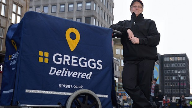 greggs delivery food