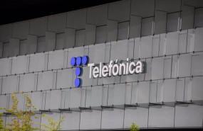 ep edificio de la sede de telefonica a 27 de abril de 2021 en madrid espana