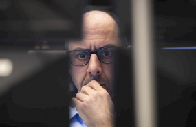 ep 12 march 2020 hessen frankfurt main a stock trader looks at monitors in the trading room of the