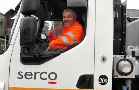 Serco Environmental Services rubbish truck