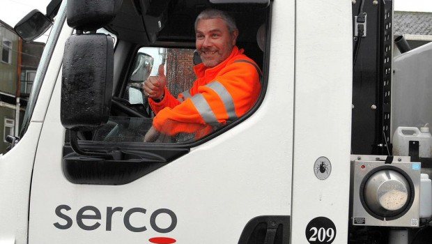 Serco Environmental Services rubbish truck