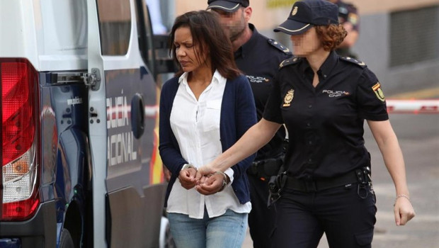 ep ana julia quezada llegando a la audiencia para la nueva sesion del juicio contra ana julia