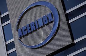 ep archivo - detalle del logo de acerinox en el edificio de su sede en madrid espana