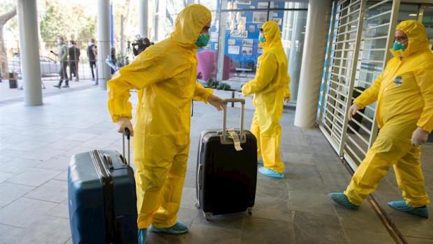 ep aeropuerto de montevideo durante la pandemia de coronavirus