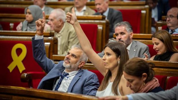 ep los diputadosciudadanosparlamentcatalunya carlos carrizosalorena roldan enimagenarchivo