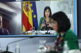 ep la ministra de sanidad carolina darias durante una rueda de prensa tras la reunion del consejo