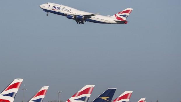 ep imagen de archivo de aviones de british airways