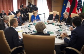 g7 leaders trade international relations trump merkel relaciones comercio cumbre