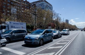 coches transito castellana trafico contaminacion madrid
