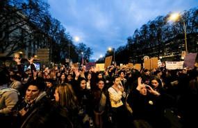 ep manifestacion del 8m dia internacional de la mujer en madrid a 8 de marzo de 2020