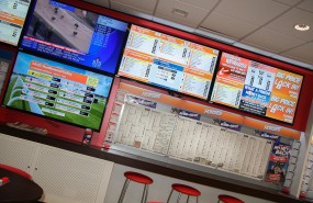 Gambling, gaming, casino, horse-racing, video wall, betting