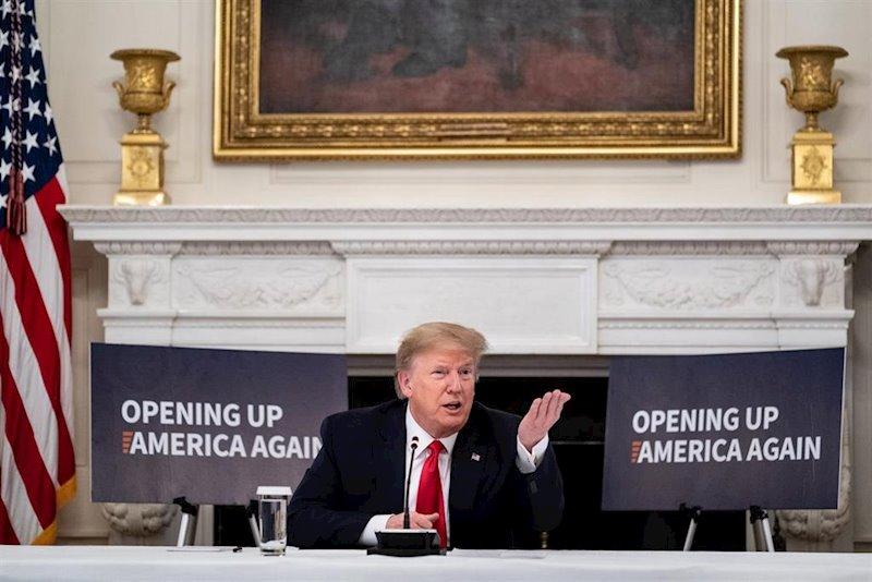 ep el presidente de estados unidos donald trump