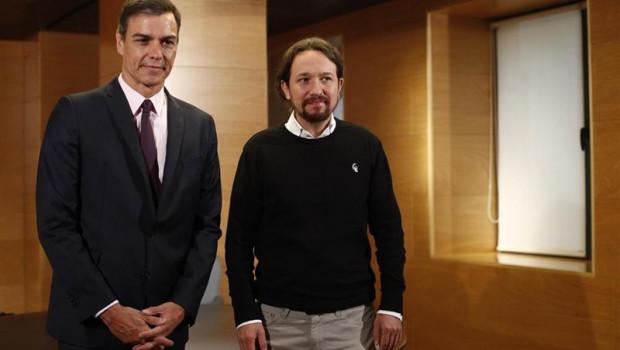 ep presidentgovern espanyolfuncions pedro sanchez arrencareunions per formar govern ambsecretari general dunides podem pablo iglesias al congres dels diputats
