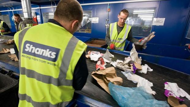 Shanks waste sorting line