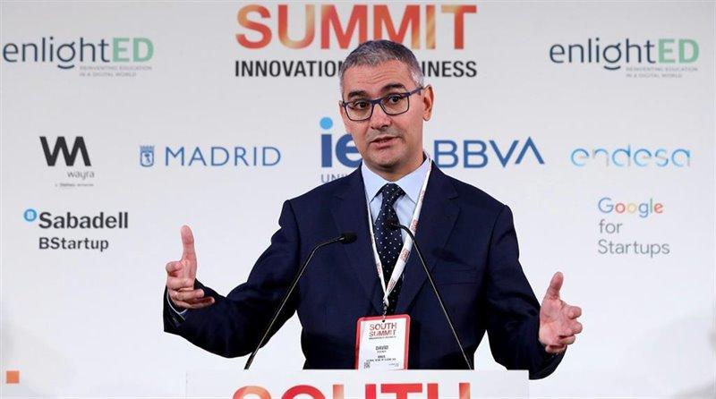 ep el responsable de client solutions de bbva david puente durante la inauguracion de south summit