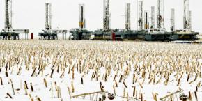 petrole attrition dakota du nord champ brut chute des prix du baril gaz de schiste fracturation hydraulique dollar etats unis neige exploration petroliere dickinson forages puits 20211018122128