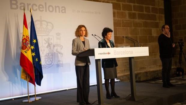 Escenas de tensión en Barcelona durante reunión excepcional del gobierno español