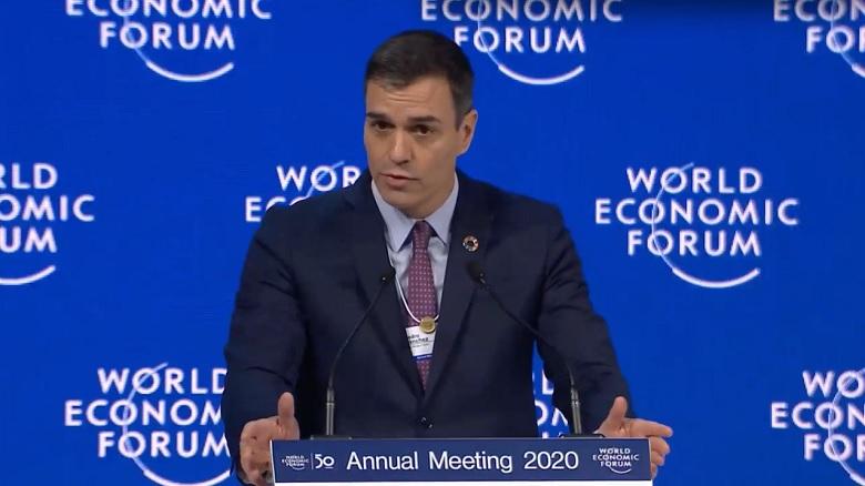 Sánchez se rodea en Davos de inversores internacionales para enviar un mensaje de confianza
