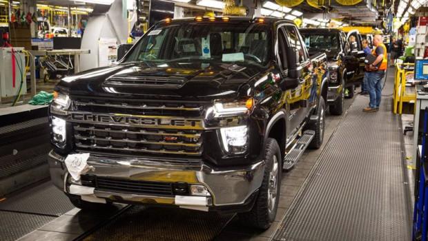 ep un chevrolet silverado en la planta de produccion de general motors en flint michigan