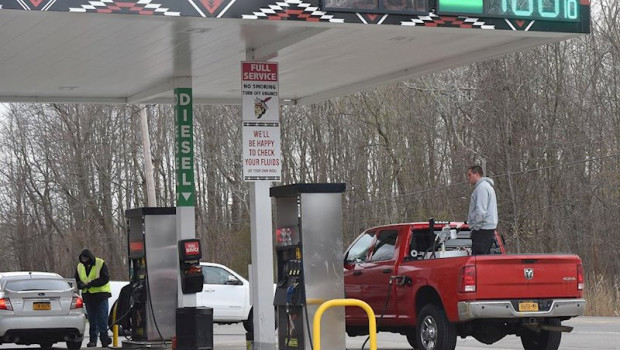 ep april 21 2020 - irving new york usa western new yorkers fill up their vehicles as well as