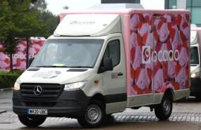 dl ocado supermarket retail online delivery groceries truck transport ftse 100 min