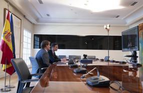ep pedro sanchez participa por videoconferencia en la reunion del g20