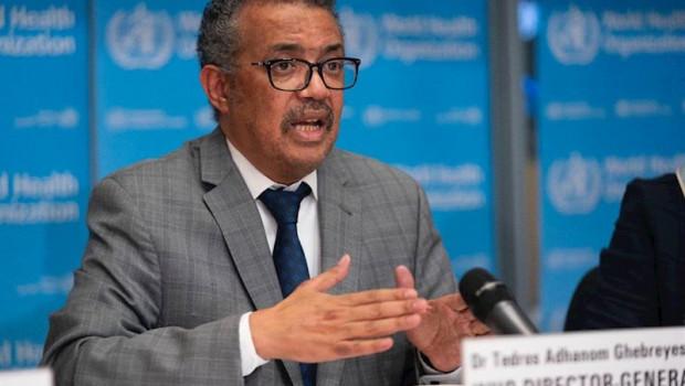 ep el director general de la organizacion mundial de la salud oms tedros adhanom ghebreyesus durante